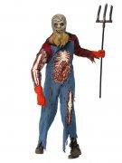 Aussätziger-Zombiekostüm Halloweenkostüm blau-rot