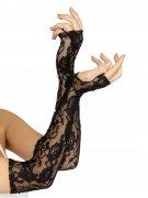 Gothic Spitzen-Armstulpen schwarz