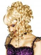 Barock-Perücke Hochsteckfrisur Locken blond