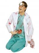 Zombie-Chirurg Halloween-Kostüm türkis-weiss