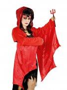 Teufelin Bolero mit Flügeln und Kapuze rot