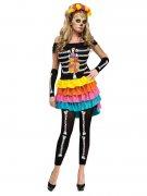 Dia de los Muertos Skelett Halloween-Leggings schwarz-weiss