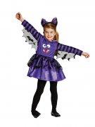 Süße Fledermaus Halloween-Kinderkostüm lila-schwarz