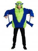 Monster Halloween-Kostüm für Erwachsene blau-grün