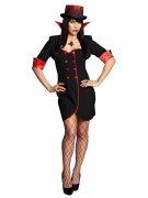 Elegante Vampirin Halloween Damenkostüm rot-schwarz