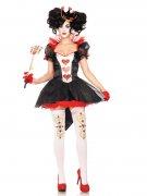 Herzkönigin-Kostüm für Damen schwarz-rot-weiss