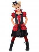 Gothic-Vampirin Halloween-Kinderkostüm rot-schwarz