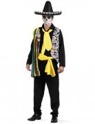Mexikaner-Kostüm Tag der Toten bunt