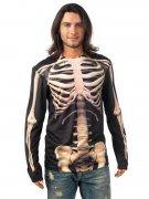Skelett Knochen Halloween T-Shirt schwarz-weiss
