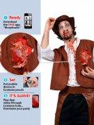 Zombie Cowboy Halloween Kostüm iWound Schlagendes Herz braun-weiss