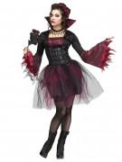 Gothik-Vampirin Halloween Damenkostüm schwarz-rot