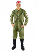 Japanischer Kamikaze Pilot Kostüm grün-weiss-rot