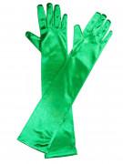 Lange Satin-Handschuhe Kostüm-Accessoire grün