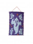 Halloween-Laterne mit Geistern lila-weiss 15cm Durchmesser