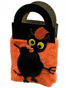 Süßes oder Saures Halloween-Plüschtasche Teufelchen schwarz-orange 40cm