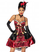 Böse Königin-Damenkostüm Halloweenkostüm rot-schwarz