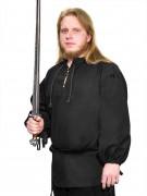Mittelalter Hemd LARP Rollenspiel schwarz