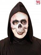 Totenkopf Halloween Halbmaske Skelett weiss-beige