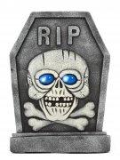 Grabstein Lachendes Skelett Halloween Party-Deko grau-blau 42x58cm