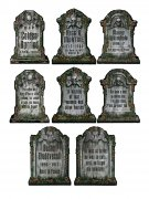 Gruselige Friedhof Grabsteine Skelett Halloween Party-Deko Set grau 30x41cm 4 Stück