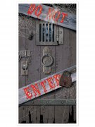 Do Not Enter Tür-Poster Halloween Party-Deko grau-schwarz 76x152cm