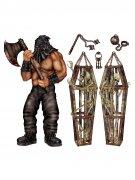 Henker und Skelette Pappfiguren Halloween Wanddeko-Set 6-teilig bunt