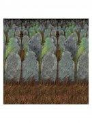 Friedhof Grabsteine Halloween Wanddeko-Folie bunt 1,2x9,1m