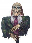Zombie Gentleman Halloween-Dekofigur grün-braun 55x40cm
