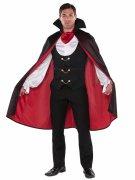 Edler Vampir-Lord Halloween Kostüm schwarz-rot-weiss