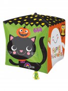 Happy Halloween Folien-Luftballon Halloween Party-Deko bunt 38x38cm