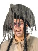 Piraten Dreispitz Fetzen-Hut grau
