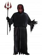 Schwelender Teufel Halloweenkostüm mit Leuchteffekt Übergrössen rot-schwarz