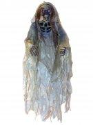 Skelett-Hängedeko Halloween weiss-beige 152cm