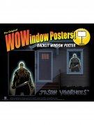 Jason Freitag der 13te Halloween Fenster-Sticker Lizenzware schwarz-grau 91x152cm