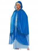 Fantasy-Umhang mit Kapuze Kostüm blau 140cm