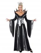 Düstere Märchenkönigin Halloween-Damenkostüm schwarz-silber