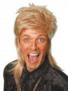 80er Vokuhila Herren-Perücke blond