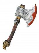 Blutige Krieger-Axt Beil braun-grau-rot 39x4x14cm