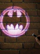 Batman™-Taschenlampe Logo Lizenzprodukt schwarz-gelb
