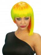 80er-Jahre Punk-Perücke asymmetrisch neon-bunt