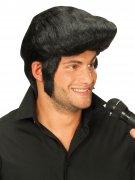 Rockstar Perücke mit Tolle schwarz
