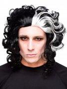 Horror-Barbier Halloween-Perücke Killer schwarz-weiss