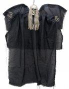 Gruseliger Skelettgeist mit Leuchtaugen Halloween-Hängedeko schwarz-weiss 110x67 cm