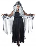 Elegante Geisterfrau Plus Size Halloween-Damenkostüm Gespenst schwarz