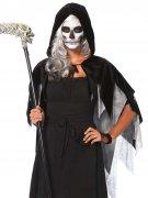 Halloween Kapuzen-Cape Umhang schwarz-grau