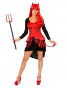 Burlesque Teufelin Damenkostüm schwarz-rot