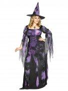 Wahrsagende Hexe Plus Size Damenkostüm Zauberin lila-schwarz