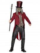 Psycho Zirkusdirektor Halloweenkostüm Dompteur rot-schwarz-beige
