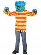 Killer Teddybär Halloween-Kostüm blau-bunt