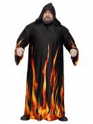 Kapuzen-Umhang Flammen Halloween-Robe Plus Size schwarz-orange